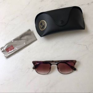 Ray ban red gradient mirror sunglasses